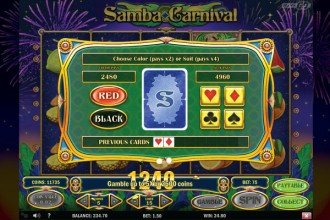 Samba Carnival Slot Gamble Feature
