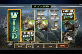 Untamed Crowned Eagle Slot Wilds Reels