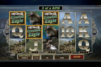 Untamed Crowned Eagle Slot Wilds