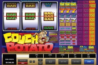 Couch Potato Slot Bar Win