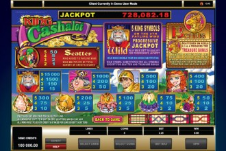 King Cashalot Slot Paytable