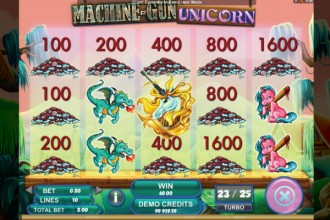 Machine Gun Unicorn Slot Bonus