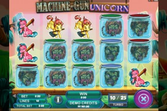 Machine Gun Unicorn Slot Reels