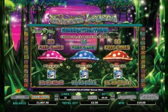Unicorn Legend Slot Free Spins Pick