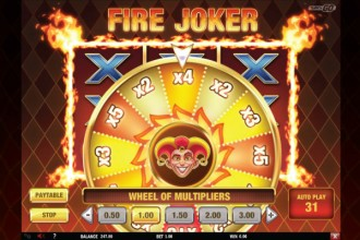 Fire Joker Slot Wheel of Multipliers