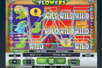 Flowers Online Slot Wilds