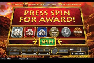 Leonidas King of Spartans Slot Bonus