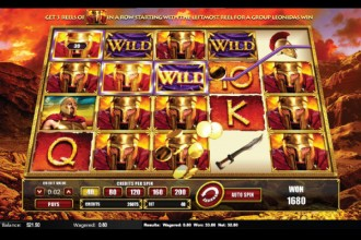 Leonidas King of Spartans Slot Reels