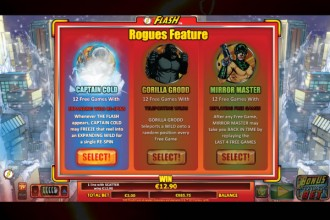 The Flash Slot Rogues Free Spins