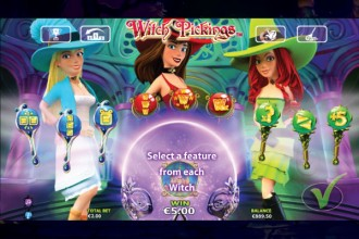 Witch Pickings Slot Free Spins Selection