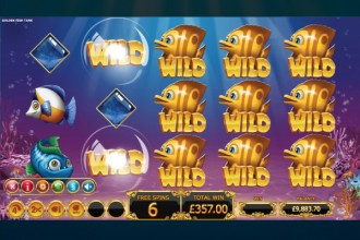 Golden Fish Tank Slot Free Spins Win