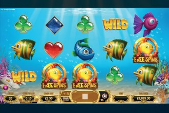 Golden Fish Tank Slot Reels
