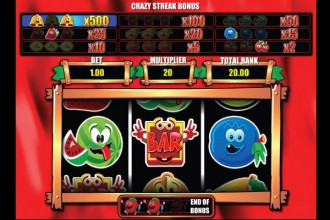 Happy Fruits Slot Crazy Streak Bonus