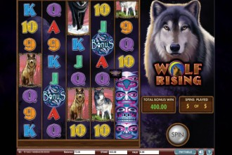 Wolf Rising Online Slot Free Spins