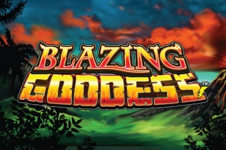 Blazing Goddess Slot Logo