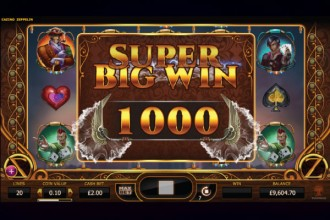 Cazino Zeppelin Slot Super Big Win
