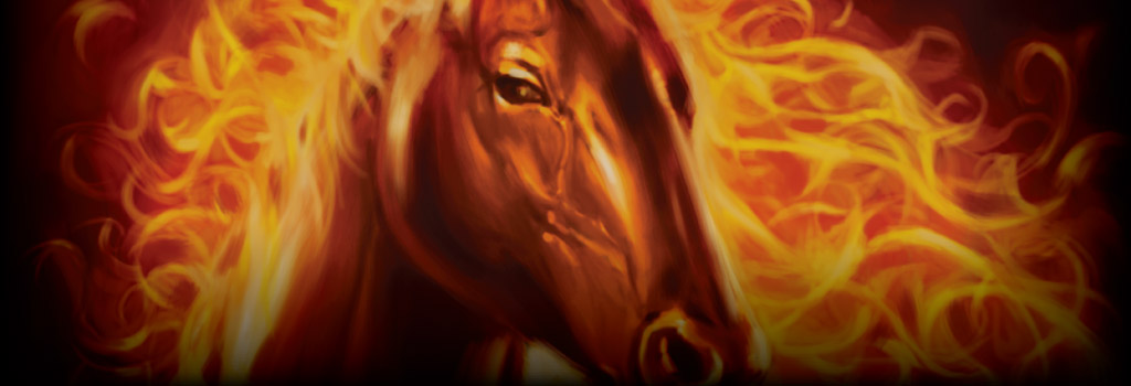 Fire Horse Background Image