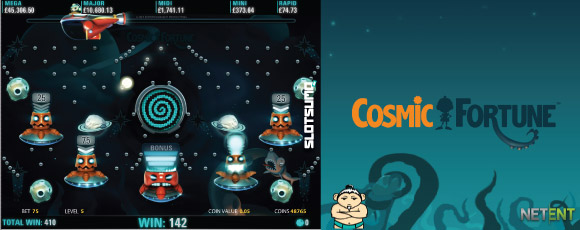 Cosmic Fortune Slot Bonus Game In Action