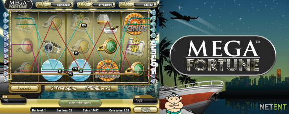Online Mega Fortune Jackpot Slot Screenshot