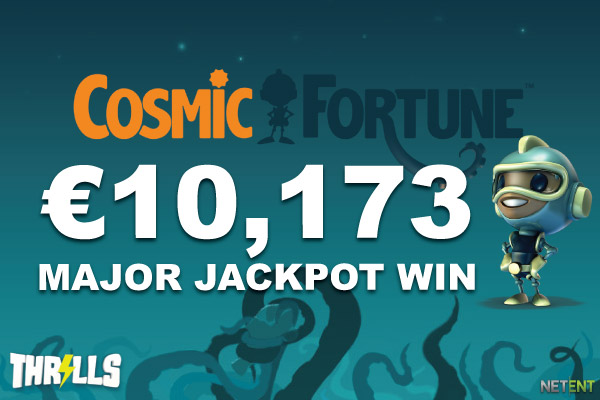 NetEnt Cosmic Fortune Jackpot Win At Thrills Casino Online