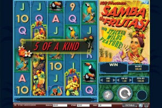 Samba de Frutas Slot Five of Kind Win