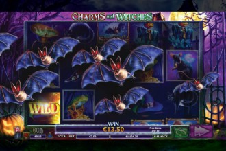 Charms And Witches Slot Bat Bonus
