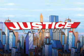 Justice League Online Slot Logo