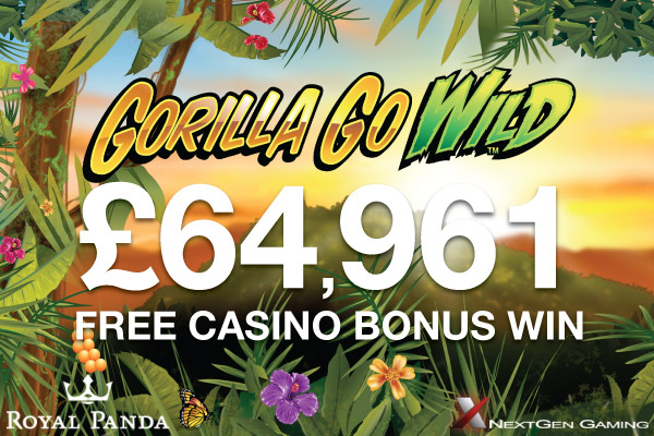 Free Casino Bonus Win On Gorilla Go Wild Slot