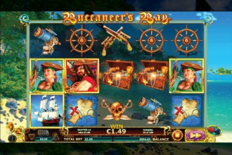 Buccaneers Bay Online Slot Game Reels