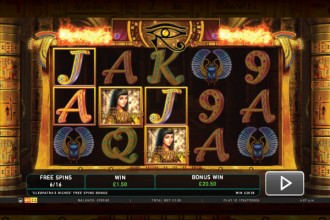 Cleopatras Riches Online Slot Free Spins Win