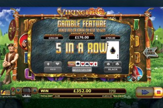 Viking Fire Online Slot Gamble Feature Win