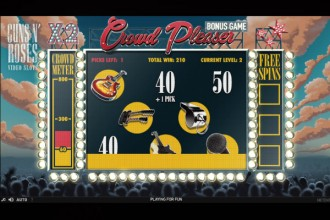 Guns N Roses Slot Crowd Pleaser Bonus