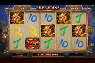 Huangdi Online Slot Free Spins Scatters