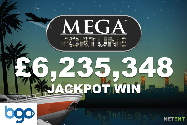 UK BGO Player Wins £6.2 Million Mega Fortune Jackpot