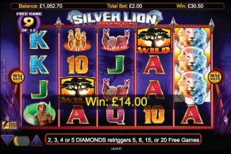 Silver Lion Online Slot Free Spins