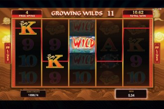 Emperor of the Sea Slot Growing Wilds Feature