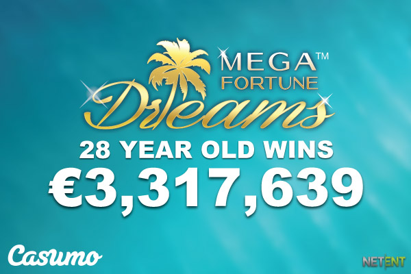 Mega Fortune Dreams Jackpot Pays Out 3 Million At Casumo