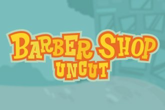 Barber Shop Uncut Slot Logo