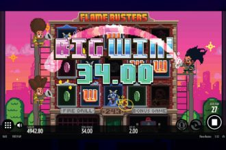 Flame Busters Online Slot Big Win