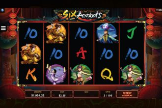 Six Acrobats Online Slot Machine