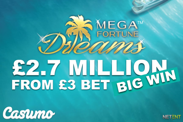 UK Casumo Casino NetEnt Big Win
