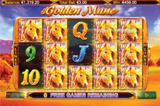 Golden Mane Slot Free Spins Wild Win