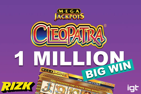 Rizk Casino Jackpot Winner On MegaJackpots Cleopatra Slot