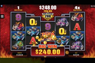 Monster Wheels Slot Free Spins Win