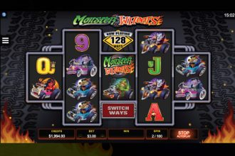 Monster Wheels Slot Machine 128 Ways
