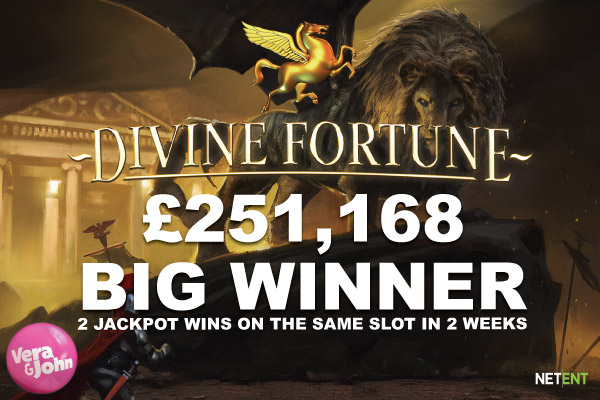 Vera John Casino Big Winner On Divine Fortune Slot