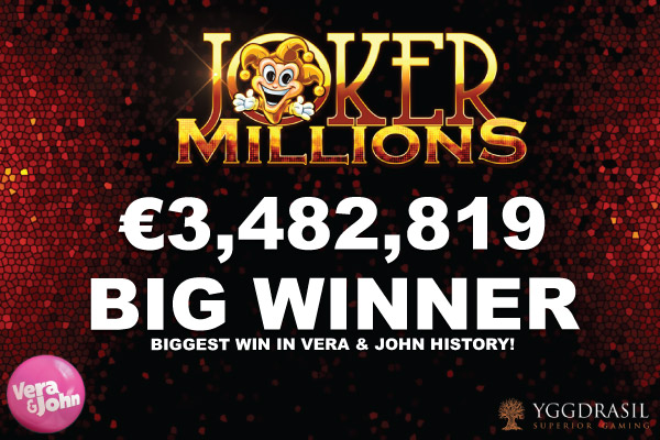 Biggest Ever Jackpot Win On Joker Millions At Vera John Casino