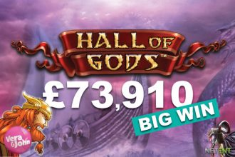 Hall of Gods Slot Jackpot Win at Vera & John Casino
