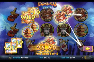 Samurai Split Slot Free Spins