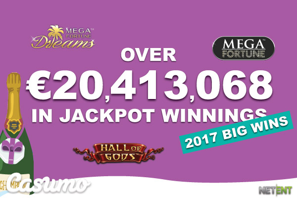 Casumo Players Win Over 20 Million On Jackpot Slots In 2017